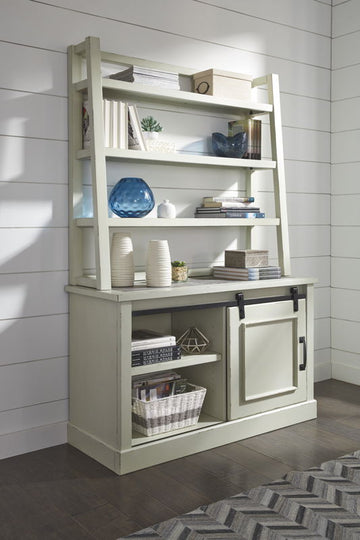 Jonileene Home Office Cabinet w/ Desk Hutch - Ashley Furniture