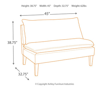 Arrowrock Accent Bench - Ashley Furniture