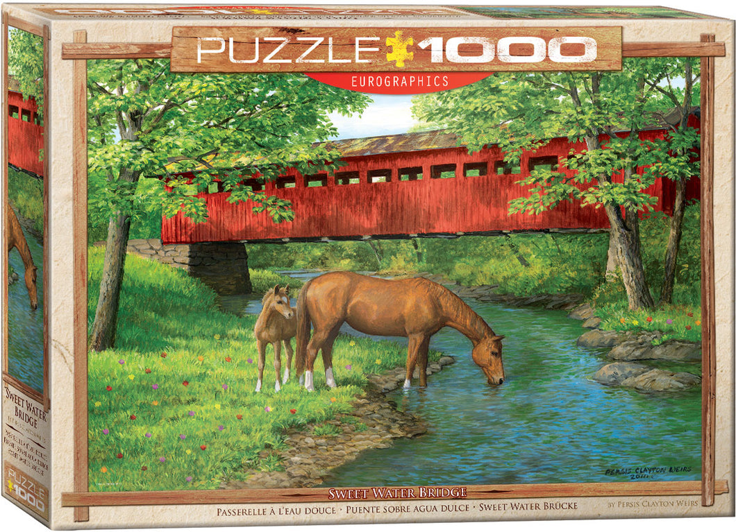 Puzzle - 1000pc (Eurographics) - Sweet Water Bridge