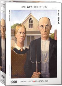 Puzzle - 1000pc (Eurographics) - American Gothic
