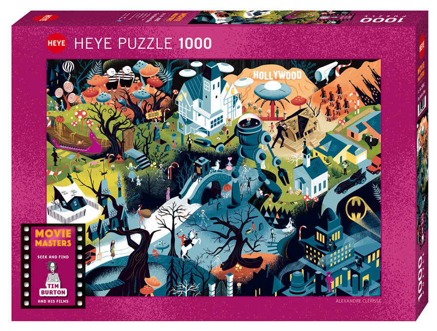 Puzzle - 1000 pc (Heye) - Tim Burton Films