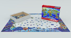 Puzzle - 2000pc (Eurographics) - Crazy World