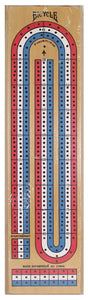 Cribbage Board - Wooden 3-Track - Bicycle Brand