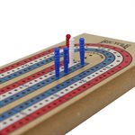 Load image into Gallery viewer, Cribbage Board - Wooden 3-Track - Bicycle Brand