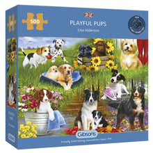 Load image into Gallery viewer, Puzzle - 500 pc (Gibsons) - Playful Pups   (Coming June)