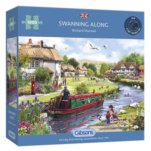Puzzle - 1000pc (Gibsons) - Swanning Along