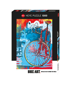 Puzzle - 1000 pc (Heye) - Red Limited Bike Art