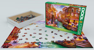 Puzzle - 1000pc (Eurographics) - Sunset Over Venice
