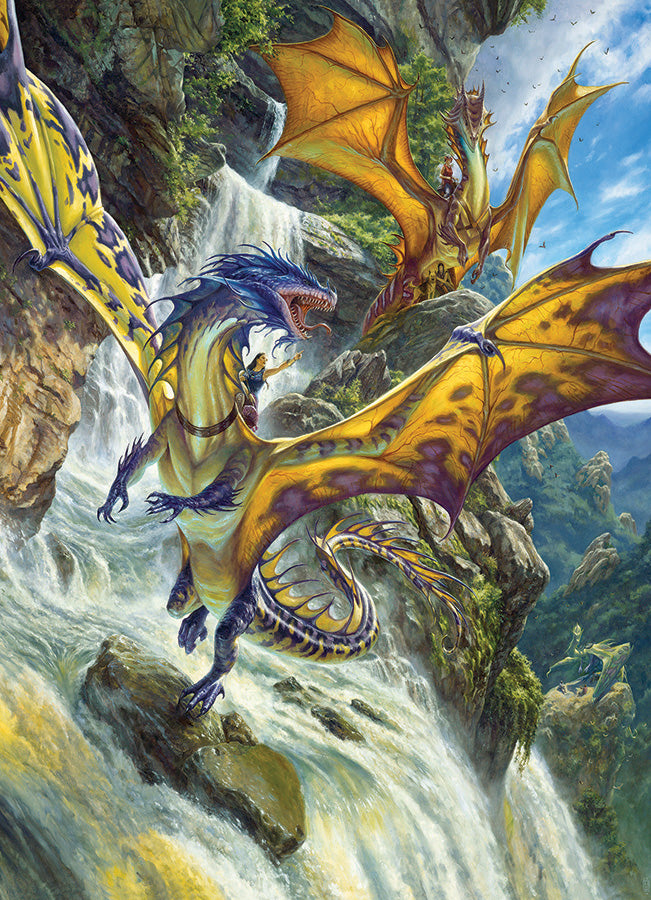 Puzzle - 1000 pc (Cobble Hill) - Waterfall Dragons