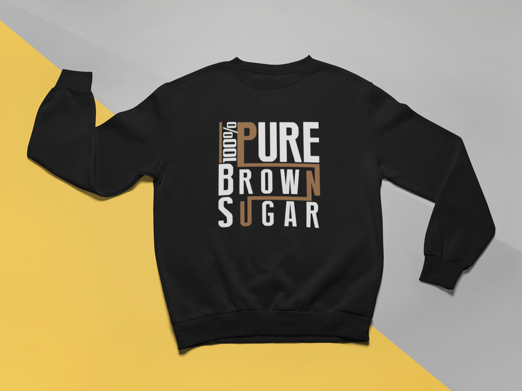 100% Pure Brown Sugar Crew Neck Sweatshirt