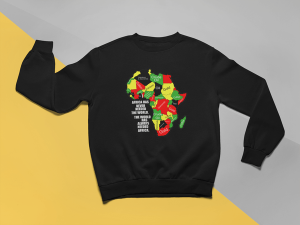 Africa Never Needed The World Crew Neck Sweater
