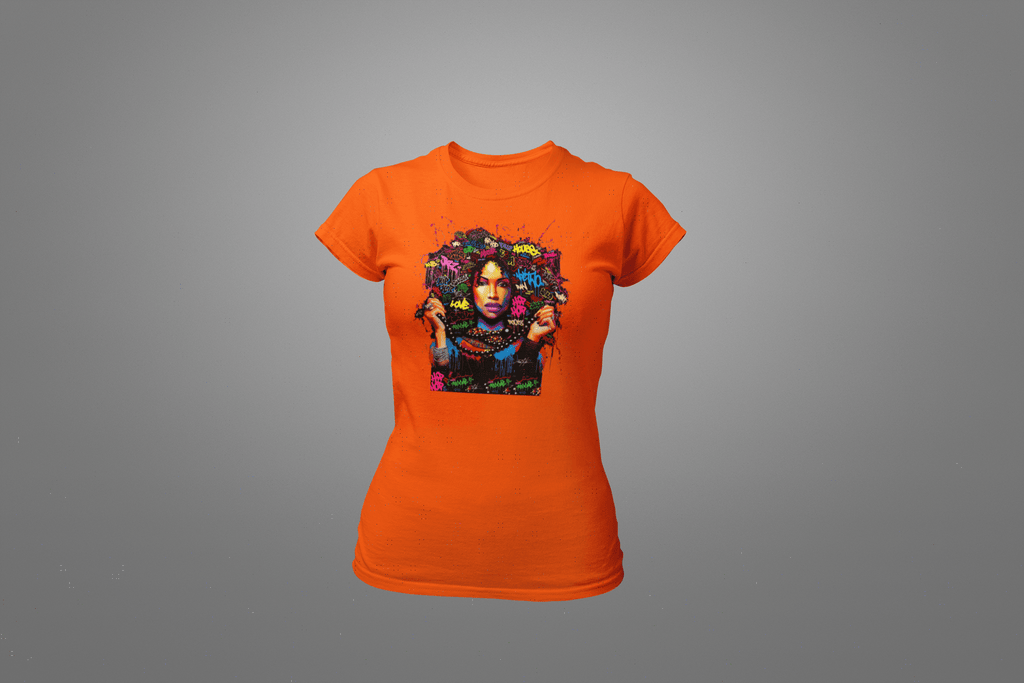 Musik Graffiti Girl T-Shirt - Hot Lab Tees