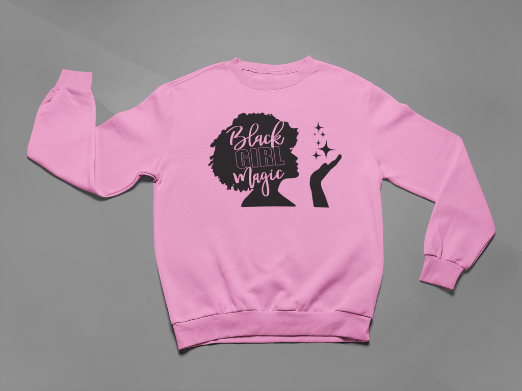 Black Afro Girl Magic Crew Neck Sweater