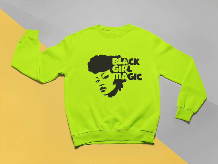 Black Girl Magic Natural Hair Crew Neck Sweater