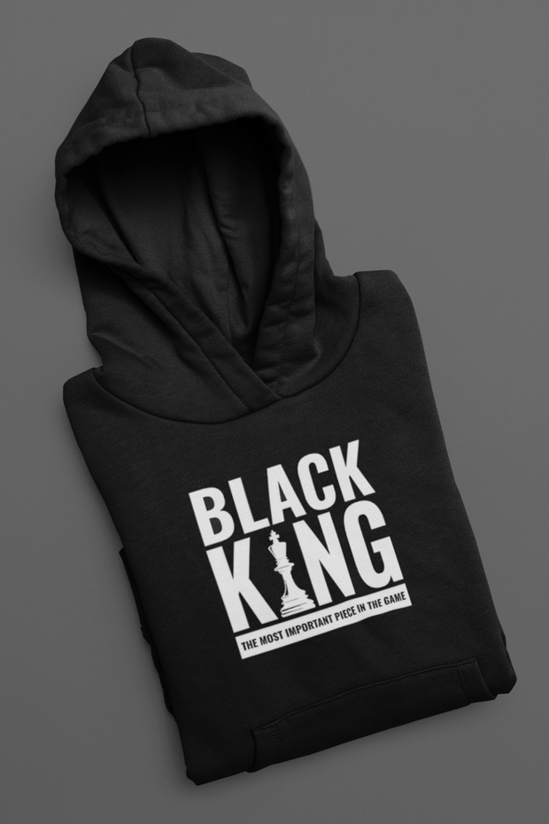 Black King Most Important Piece Pullover Hoodie