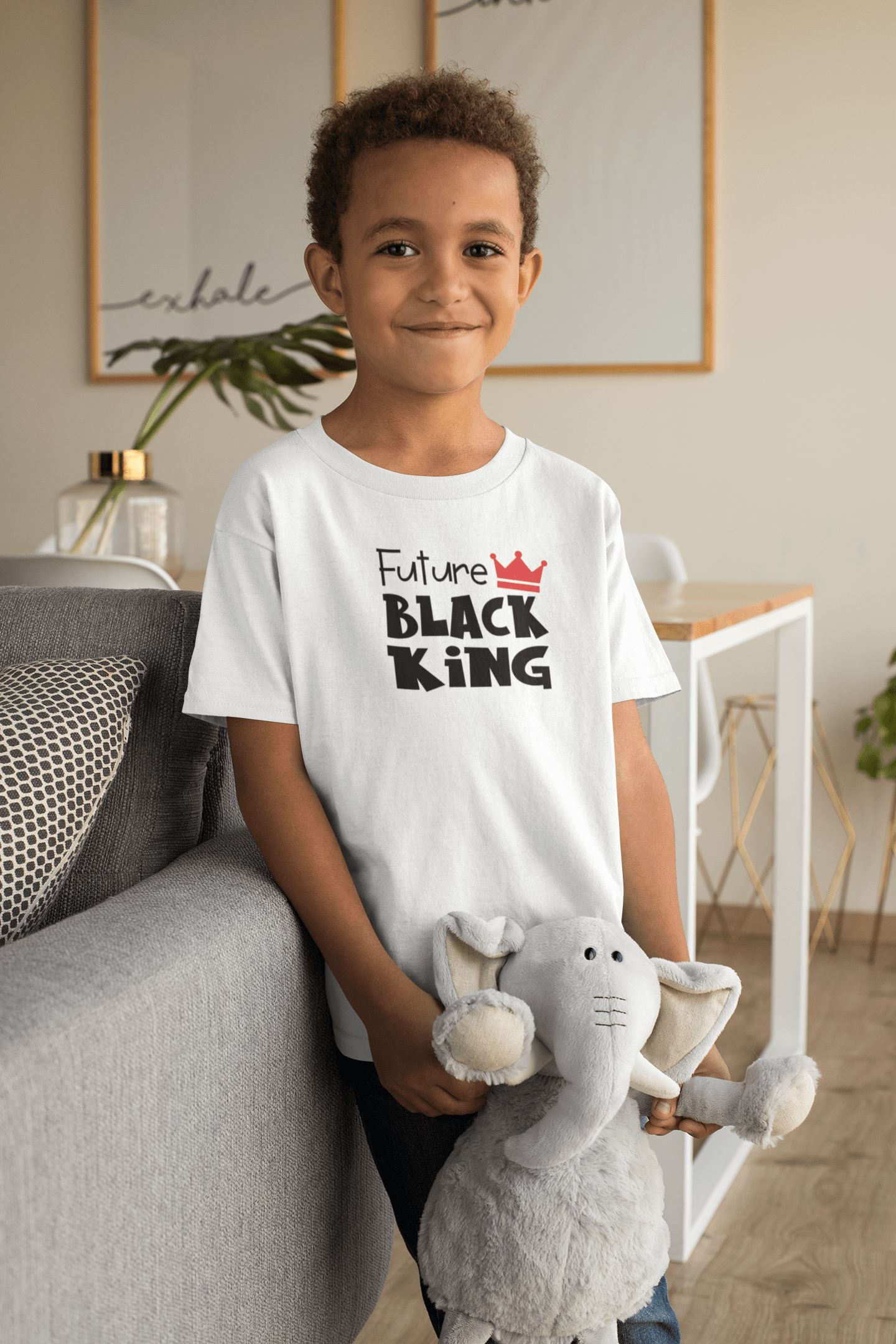 Future Black King Kids' T-Shirt - Hot Lab Tees