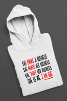 I Am She Pullover Hoodie