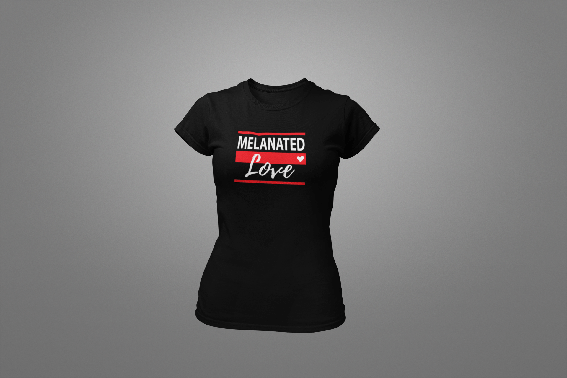 Melanated Love Ladies' T-shirt