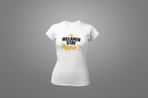 Melanin Stay Poppin' T-Shirt - Hot Lab Tees
