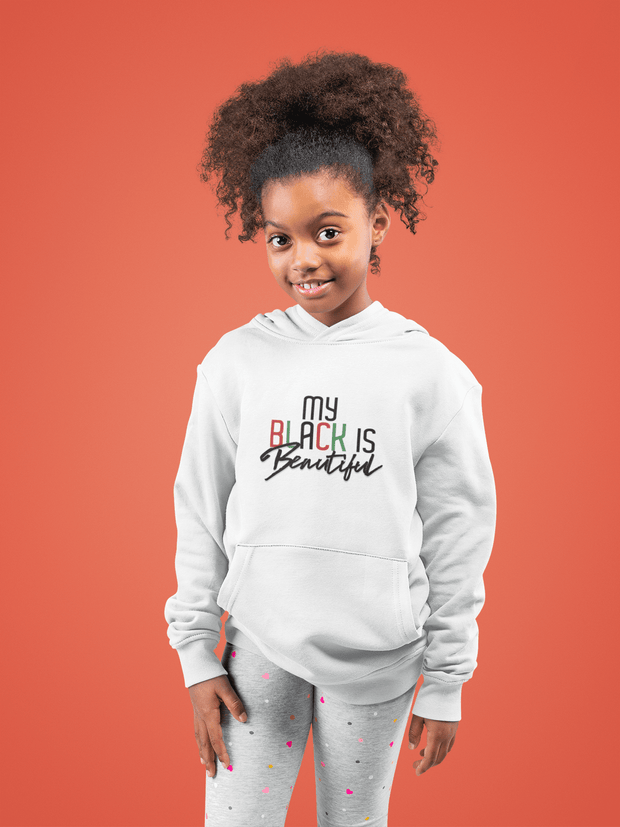 My Black is Beautiful Kid's Pullover Hoodie