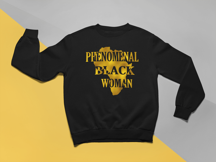 Phenomenal Black Woman Crew Neck Sweater