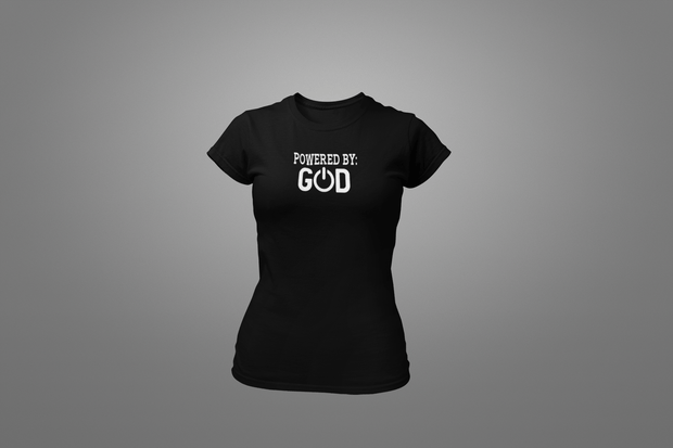 Powered By God T-Shirt - Hot Lab Tees