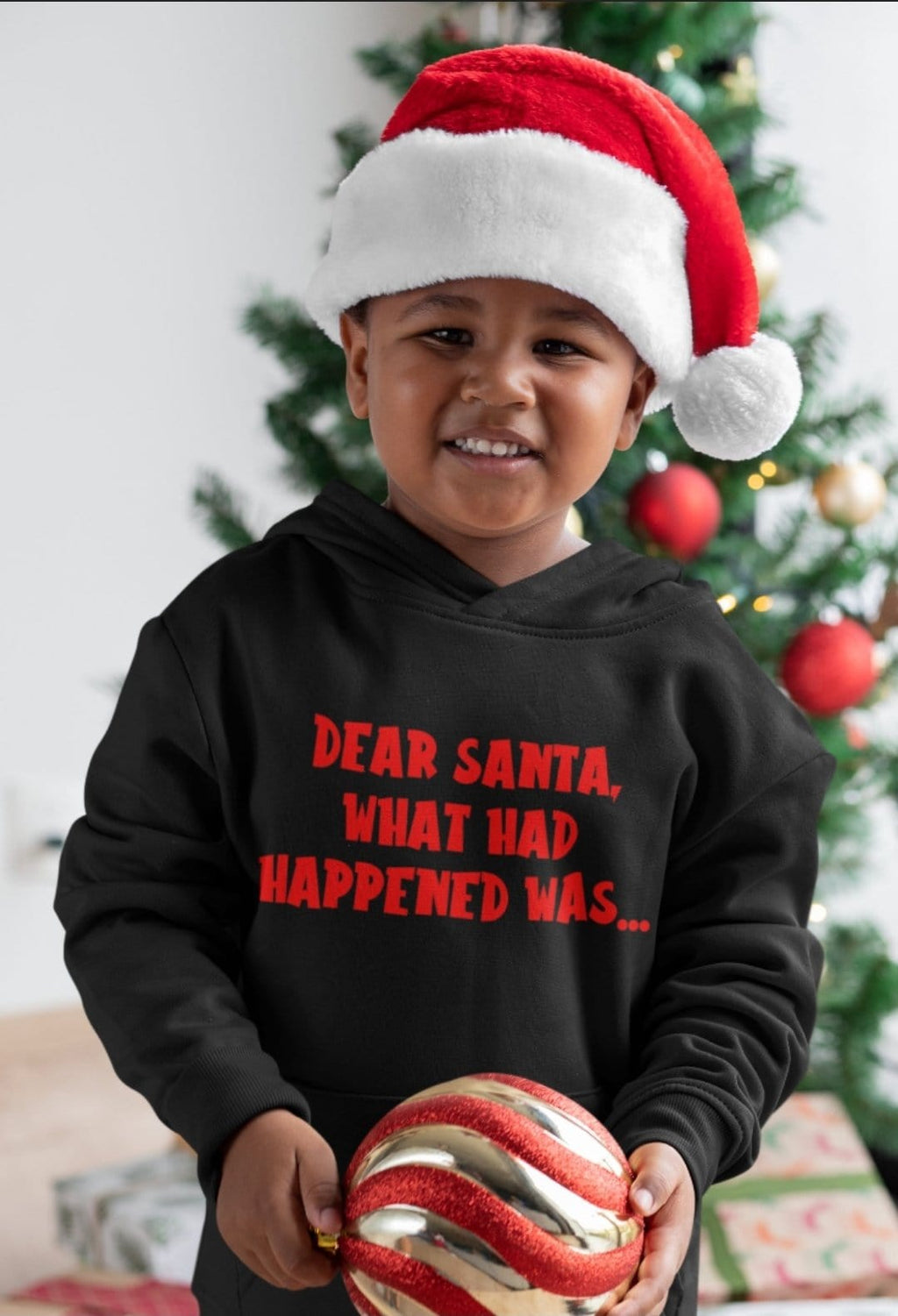 Dear Santa Kids' Hooded Sweatshirt