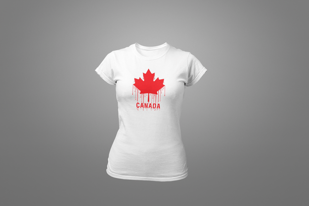 Dripping Canadian Flag T-shirt - Hot Lab Tees