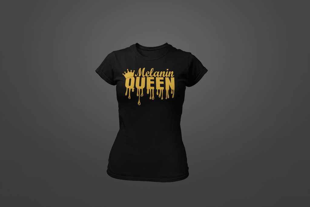 Dripping Melanin Queen T-Shirt - Hot Lab Tees
