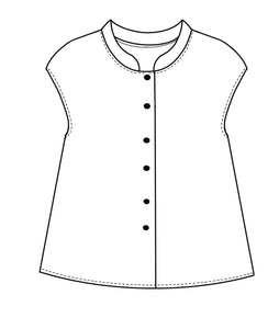 flat drawing of a button up top