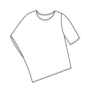 a flat drawing of a top
