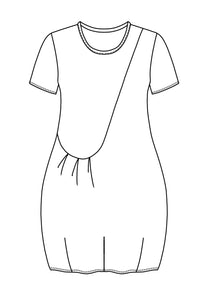 flat drawing of a tunic with one front pocket