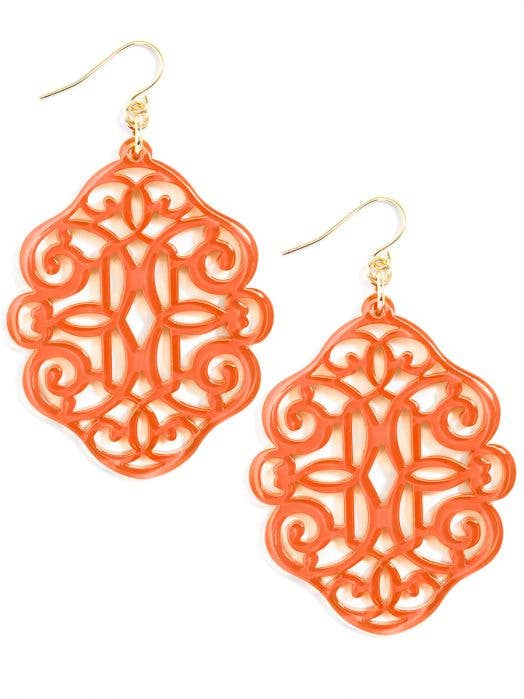 Regal Drop Earring - Coral
