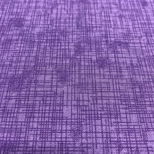 Load image into Gallery viewer, close up of purple crosshatch print pattern with lighter purple background and darker purple crosshatch pattern overlayed on top