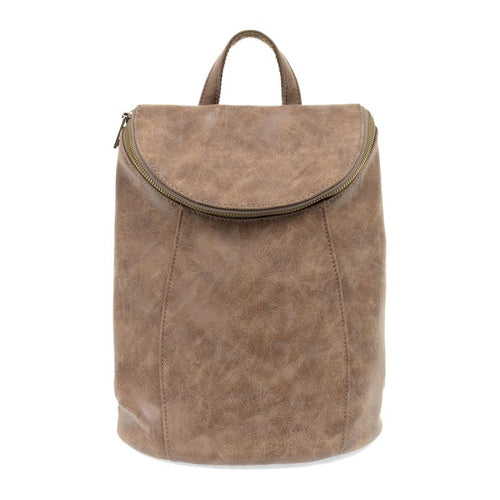 earth color backpack purse