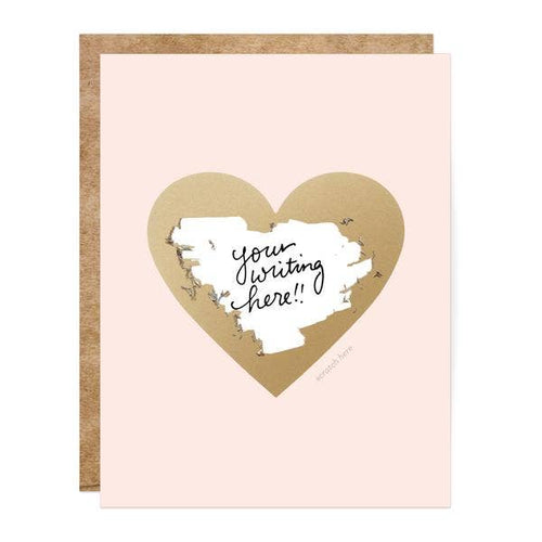 pink card with a heart and  text