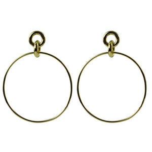 gold hoop earrings with smaller hoops at the ear