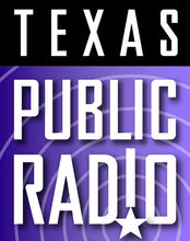 Load image into Gallery viewer, purple and black texas public radio logo