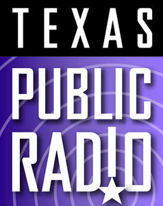 purple and black texas public radio logo