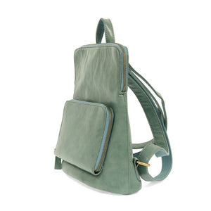 seafoam side view backpack