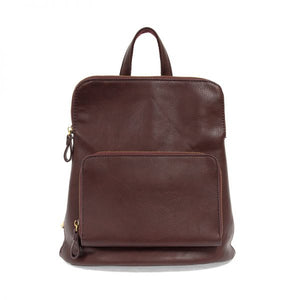 wine color backpack