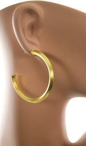 gold squared hoops