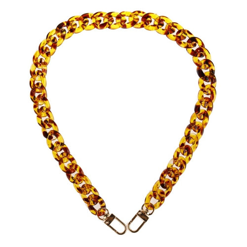 mask chain in an acrylic leopard coloring