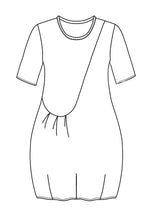 Load image into Gallery viewer, flat drawing of a tunic with one front pocket