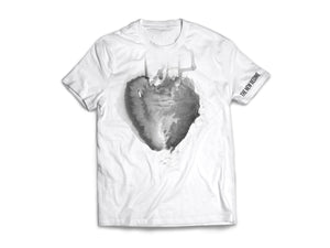 GRAY HEART T-SHIRT