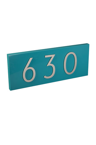 Modern Address Plaque & Aluminum Numbers