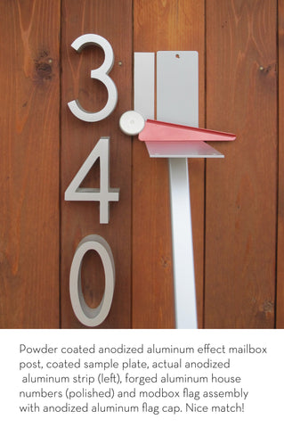 Mid-Century Modern Mailbox | Anodized Aluminum Efffect