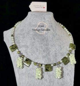 Necklace with Jade end Serpentine