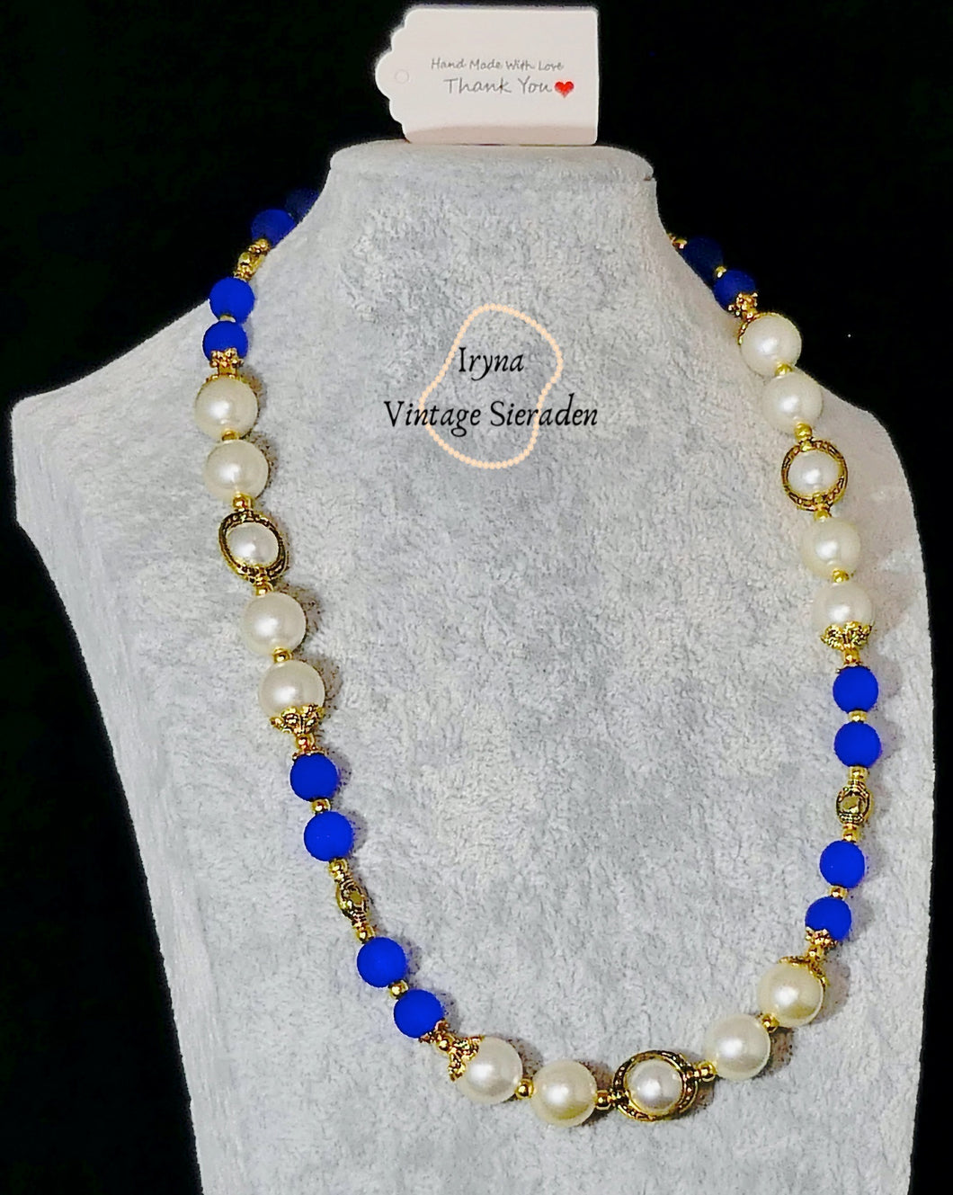 Necklace with Pearls and Gemstones