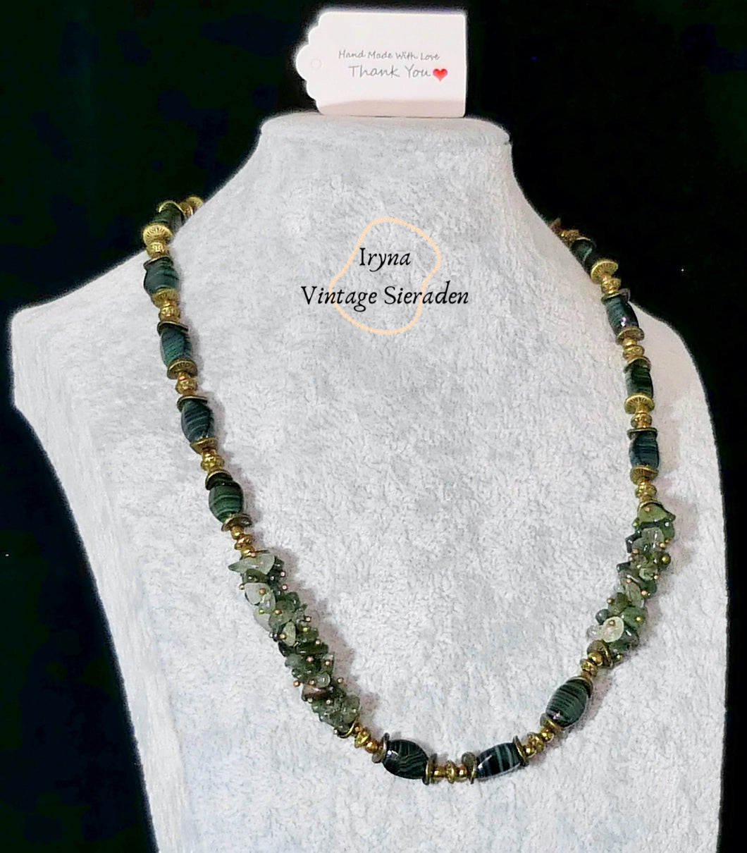 Necklace with Gemstones and Serpentine